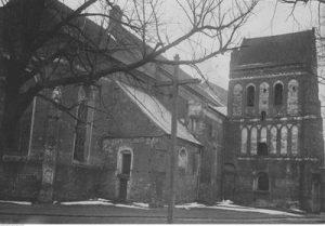 Katedra Łomżyńska p.w. św. Michała Archanioła – fragment katedry z dzwonnicą