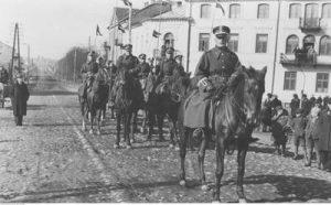 Pluton kawalerii Koła Powiatowego Związku Rezerwistów w Łomży