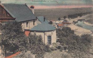 Kościół oo. Kapucunów wybudowany na Popowej Górze, na której znajdował się pierwszy kościół parafialny w Łomży Zbiory MPMŁ