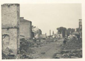 Zniszceznia wojenne w Łomży , 1939 r. Zbiory MPMŁ